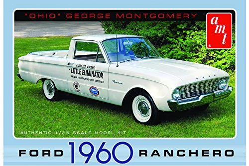 """Ohio George - Little Eliminator"" 1960 Ford Ranchero - Plastic Model Kit , Skill Level 2, This mini pickup truck was awarded to George for winning ""Little Eliminator"" at the 1960 National Championship Drag Races at Detroit Dragway. A"