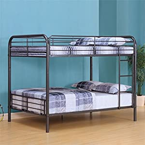 ACME Furniture 37435 2 Count Bristol Bunk Bed, Full, Gunmetal