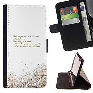 BullDog Case - FOR/Samsung Galaxy S3 Mini I8190Samsung Galaxy S3 Mini I8190 / - / poem motivational message white gold /- Monedero de cuero de la PU Llevar cubierta de la caja con el ID Credit Card Slots Flip funda de cuer