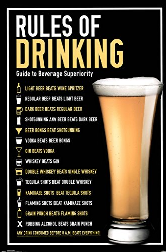 Rules of Drinking Guide To Beverage Superiority Funny Poster 22x34 - Funny Drinking Posters