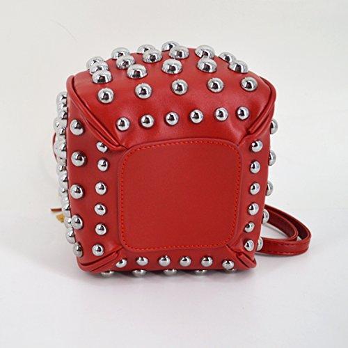 Millya - Bolso mochila  para mujer, Red (Rojo) - bb-01594-02C Red