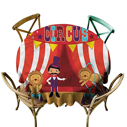 familytaste Circus,Picnic Cloth Tamer Lions Hoop Performance D 60