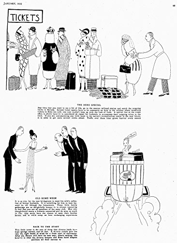 Parker Divorce 1920 NOur Great American Sport Page From Vanity Fair Magazine January 1920 Commenting On The Rising Divorce Rate In The United States With Text By Dorothy Parker And Illustrations By Fi