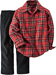 Carter\'s Baby Boys\' 2 Piece Pant Set - 2T - Red
