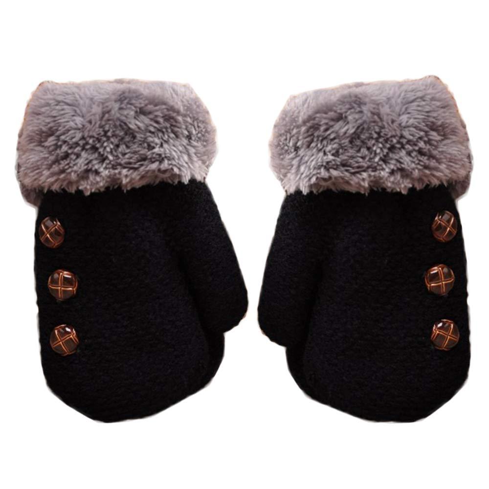 imixlot Toddler Baby Boy Girl Warm Winter Mittens Gloves With Neck String Design