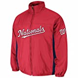 Washington Nationals MLB Majestic Men's Red 2016 Double Climate Quilted Full Zip On-Field Jacket (M)