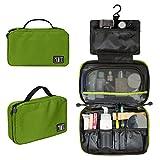 Compra BAGSMART Travel Hanging Toiletry Cosmetic Bag Carry-on Makeup Organizer Portable Travel Kit Organizer, Green en Usame