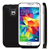 Galaxy S5 Battery Case, SQDeal 4800mAh Slim Fit Backup External Battery Charger Case Cover with Kickstand for Samsung Galaxy S5 i9600 G900 (Black)