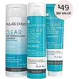 Paula's Choice-CLEAR Extra Strength Acne Kit-2% Salicylic Acid & 5% Benzoyl Peroxide Acne Treatment Skincare Kit with Face Wash, Blemish Treatment, and Exfoliator