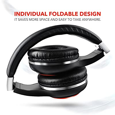 Foldable Headphones, HUEIYING 3.5mm Stereo Headsets with In Line Microphone, Comfortable, Noise Cancelling, Lightweight, Fashion, Running for Android Smartphones, Iphone, Ipad, Ipod, Samsung, PC