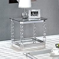 Furniture of America Amora End Table in Chrome