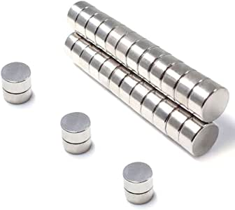Round Magnets For Refrigerator By JACK CHLOE, 35Pcs 10MM x 3MM Magnet