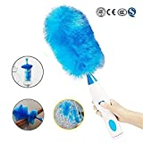 Spin Duster,Adjustable Electric Feather Duster Dirt Dust Brush Multifunctional Vacuum Cleaner Blinds Furniture Window Bookshelf Cleaning