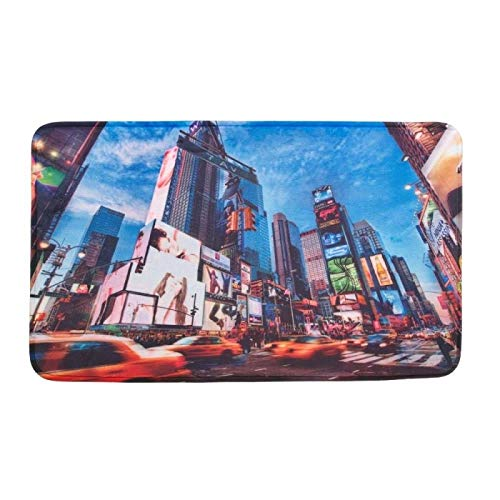 elcome Mat, Times Square NYC Porch Modern Decorative House Floor Mats ()
