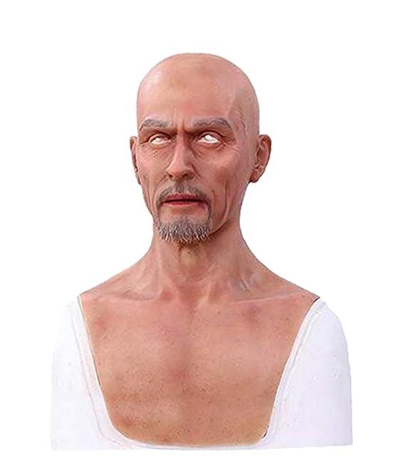 Ajusen Männliche Masken Silikon realistisch Voller Kopf Maskerade für Crossdresser Cosplayer Mann Maske Halloween Kostüm-Part