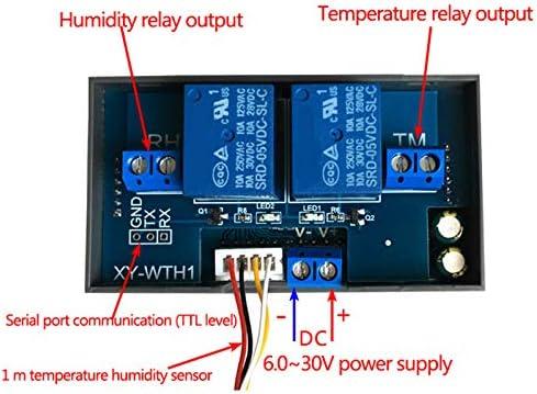 TOOGOO Xy-Wth1 Dc 6-30 V Pantalla Digital Temperatura Constante Humedad Controlador Incubadora Termostato De Salida Dual para Ca 220 V