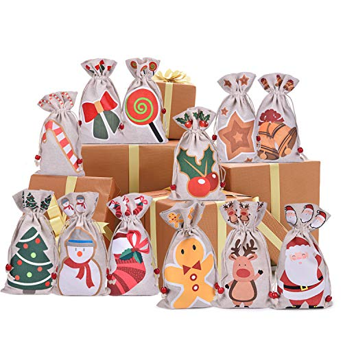 12 Pack Kids Goodie Bags for Party Favors,