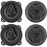 (4) Rockville RV4.3A 4 3-Way Car Speakers 1000 Watts/140w RMS CEA Rated Total