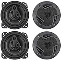 (4) Rockville RV4.3A 4 3-Way Car Speakers 1000 Watts / 140w RMS CEA Rated Total