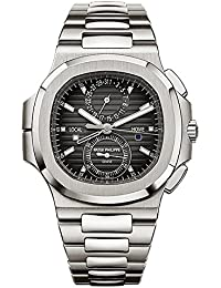 Travel Time Chronograph Stainless Steel Watch 5990/1A-001