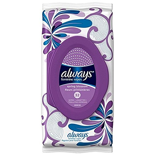 Always Feminine Wipes Spring Blossom Scent 32 Count, 32 Count Pack Of 1
