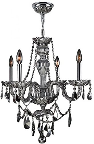 Worldwide Lighting W83095C23-CH Provence 4 Light With Chrome Crystal Chrome ..#G4E435T1 34452-3T533748 ()