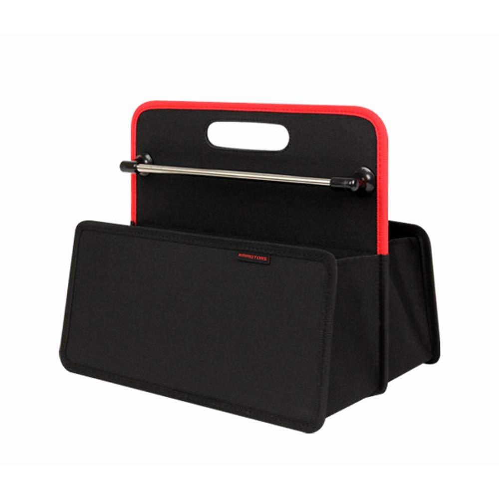 BR car organizer Organisateur de Coffre de Voiture, boîte de Rangement pour Coffre arrière - Boîte de Rangement en Tissu Oxford Pliable pour Voiture, Tenue idéale et Transport (Color : Black)