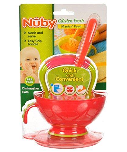 Nuby Garden Fresh Mash n' Feed - fuchsia, one size