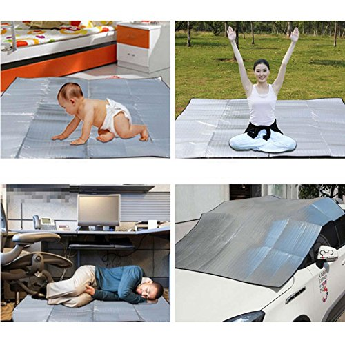 FidgetFidget Camping Insulating Mat Cushion Pad 1pc Applied Aluminum Foil Foam Outdoor Picnic