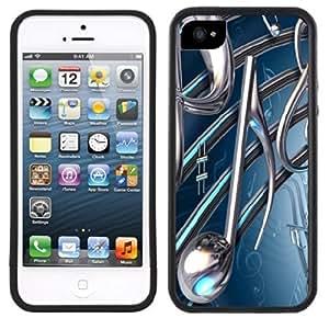 Music Notes Handmade iPhone 5 5S Black Case