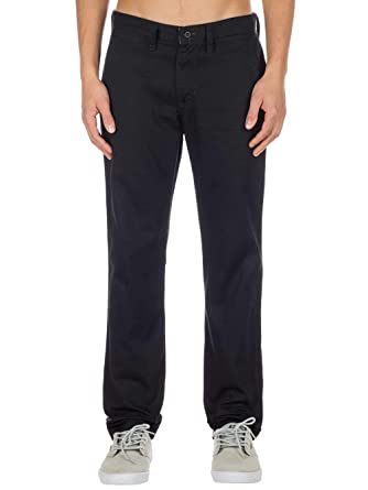 7a2ebf5755 Vans Authentic Chino Stretch (Black) Pants-34 at Amazon Men s Clothing  store