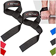 Lifting Wrist Straps by Rip Toned (Pair) - Bonus Ebook Cotton Padded - for Weightlifting, Bodybuilding, Xfit,
