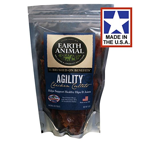Earth Animal USA Chicken Jerky Cutlets Agility for Healthy Hips and Joints 10 oz