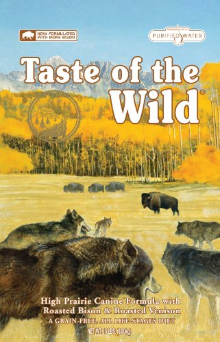 Taste of the Wild Dry Dog Food, Hi Prairie Canine Formula with Roasted Bison and Venison, 15-Pound Bag, My Pet Supplies