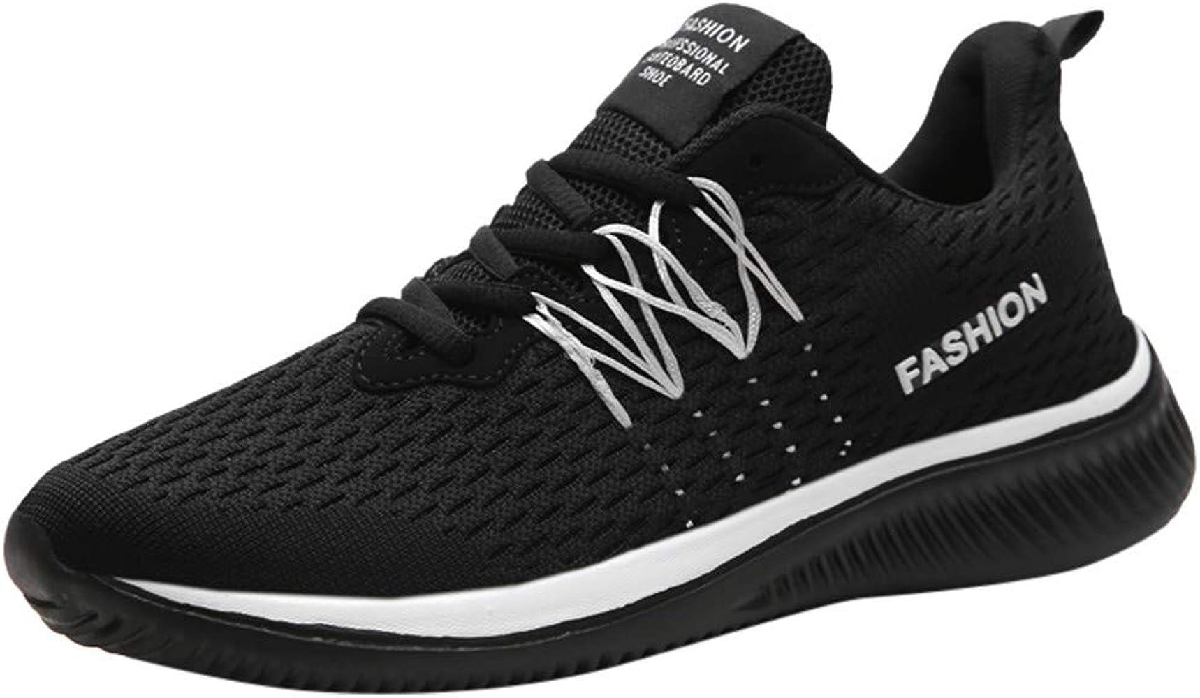 JiaMeng Zapatillas de Running para Hombre Zapatillas de Deporte para Caminar Transpirables, Ligeras, cómodas y Casuales Zapatillas para Correr Zapatos para Correr Transpirable Lace Up: Amazon.es: Ropa y accesorios