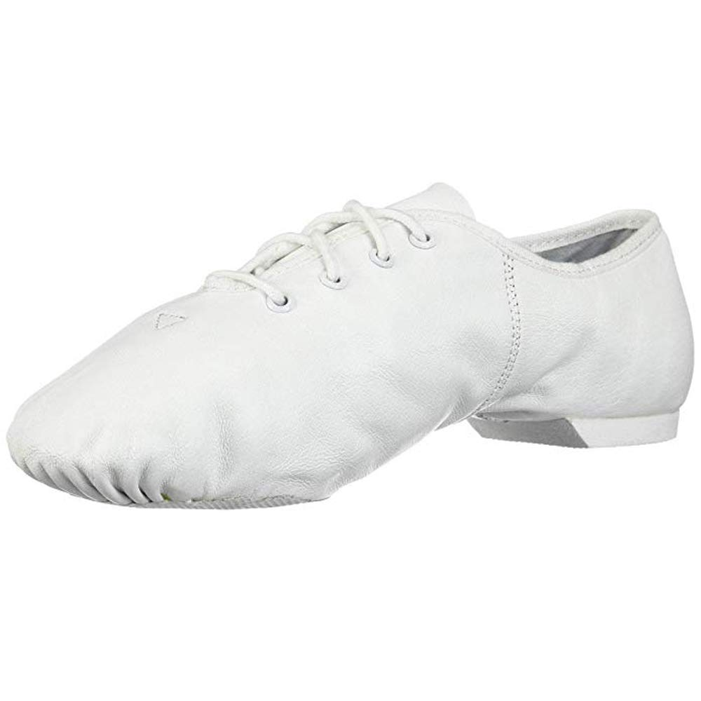 Danzcue Girls Leather Lace Up Jazz Shoes
