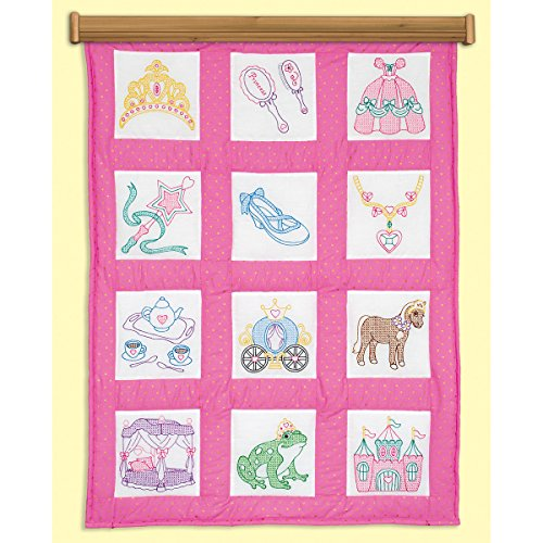 "Jack Dempsey JDN737.889 Quilt Blocks 9"" Princess 12Pc for sale  Delivered anywhere in USA"