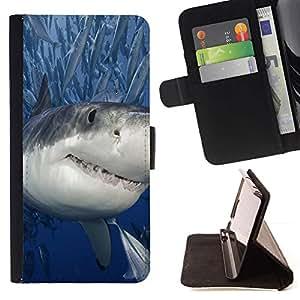 Momo Phone Case / Flip Funda de Cuero Case Cover - Killer Shark con los pescados - Samsung Galaxy S6 Active G890A