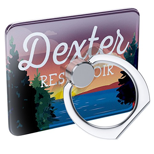 (Cell Phone Ring Holder Lake retro design Dexter Reservoir Collapsible Grip & Stand Neonblond)