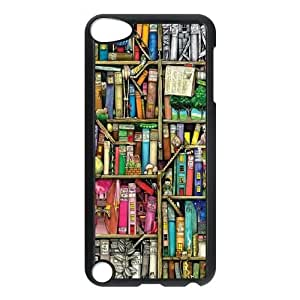 bookshelf style High Qulity Customized Cell Phone Case for iPod Touch 5, bookshelf style iPod Touch 5 Cover Case