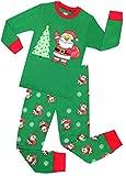Boys Santa Christmas Pajamas Girls Cotton Clothes Kids Pjs Toddler Sleepwear Pants Set Size 9 Years