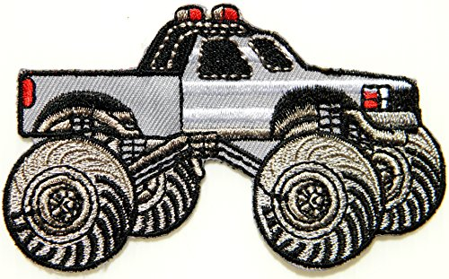 Hercules The Rock Costume - Monster Truck 4WD Off Road Car Model Diecast Kid Baby Jacket T-shirt Patch Sew Iron on Embroidered Applique Sign Badge Costume