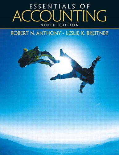 Essentials of Accounting (9th Edition)