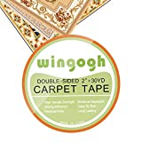Wingogh Double Sided Carpet Tape - MULTI-PURPOSE Better than Rug Gripper 2 Inches x 30 Yards
