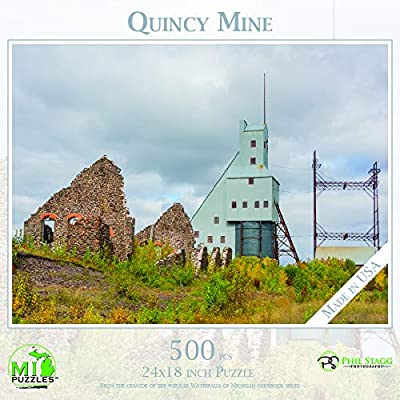 Quincy Mine - 500 Piece MI Puzzles Jigsaw Puzzle: Toys & Games