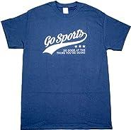 Go Sports Do Good Funny Football Baseball Mens Adult T-shirt Navy Blue