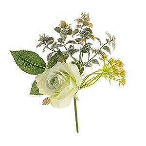 XABegin DIY Artificial Silk Craft Decoration Flowers 3 Branches Rose Bridal Bouquets, Weddings, Wreaths, Crafts, Home Garden Decoration 97