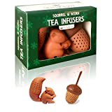 The Squirrel and Acorn Loose Leaf Tea Infuser Set of 2 by SunKewl with Gift Box