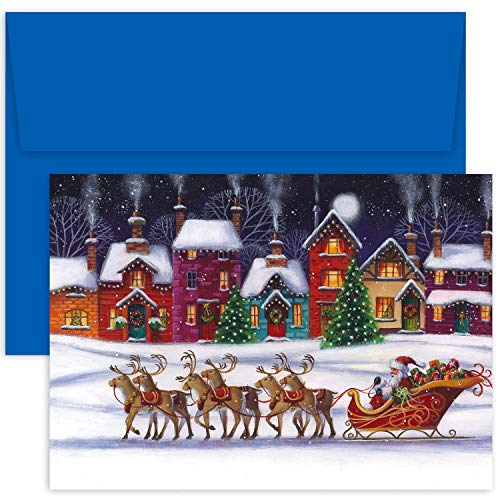 (Masterpiece Studios Hollyville 18 Cards / 18 Envelopes, Santa & Sleigh)
