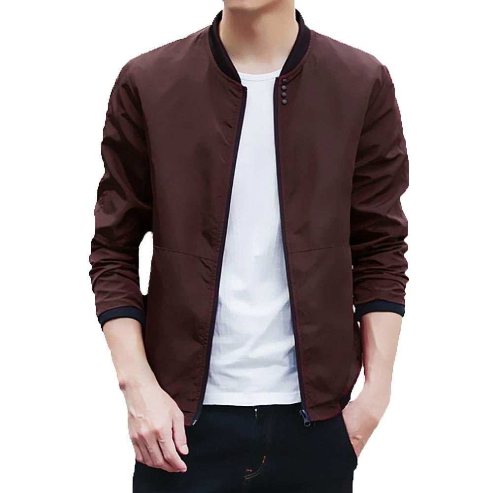 Realdo Mens Jacket Clearance Sale Peacoat Men's Baseball Coats Slim Sport Outwear